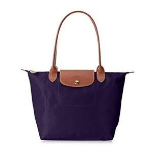 Lonchamp purple nylon tote